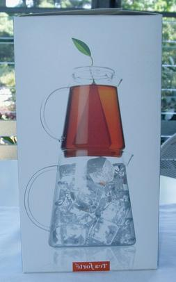 NIB ~ Tea Forte Tea Over Ice Iced Tea Glass Serving Brewing