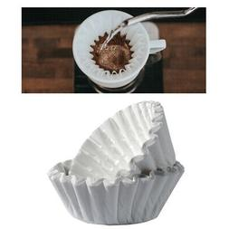 100 COUNT PAPER COFFEE TEA FILTERS BREWER BASKET MAKE 8-12 C