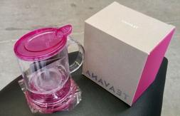 Teavana Perfect Tea Maker Pink Fuschia Perfectea BPA Free 16