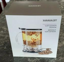 Teavana PERFECTEA 16 Ounce Tea Maker - Black  with Tea Spoon