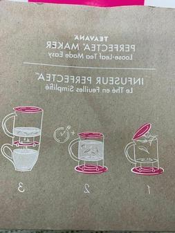 Teavana PerfecTea 16 Ounce Tea Maker Pink New In Box
