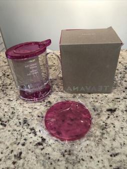 16 Oz Teavana Perfectea Maker - Fuchsia Pink ~ BPA-Free Tea