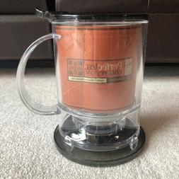 Teavana PerfecTea Tea Maker, 16oz, New, Black With Plastic D