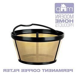 Permanent Basket-Style Gold Tone Coffee Filter Designed for