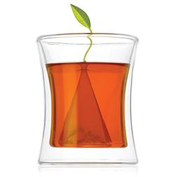 Tea Forte POOM Double Wall Glass Tea Cup for Hot Tea or Iced