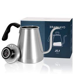 POUR OVER Coffee Kettle and Tea Kettle with Built-in THERMOM