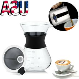 Pour Over Coffee Maker Coffee Cone Filter Coffee Tea Espress