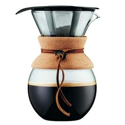 Bodum Pour Over Coffee Maker with Permanent Filter, Glass, 3
