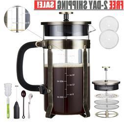 Press Coffee Tea Maker 34 oz Stainless Steel, Precise Scale,