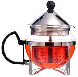 GROSCHE Preston Personal Glass Teapot 600 ml / 20.3 fl oz Wi