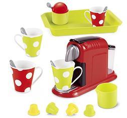 Pretend Play Kit - 21 Pieces Gourmet Mini Coffee Expresso Ma