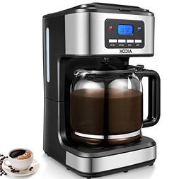Programmable Coffee Maker, Aicok Coffee Maker 12 Cups, Drip