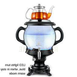 RAYA Glass Tea Maker, Black| 4.5 Ltr/160 oz | Large Electric