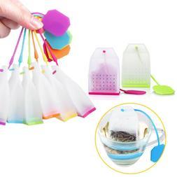 Reusable Silicone Spice Filter Leaf Strainer Tea Infuser Tea