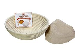 Premium Round Banneton Basket with Liner - Perfect Brotform