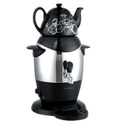 Ovente S21B Stainless Steel Samovar Tea Maker with Ceramic T