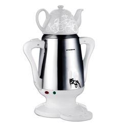 Ovente S22W Stainless Steel Samovar Tea Maker, White, 1 ea