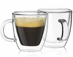 Savor Double Wall Insulated glasses Espresso Mugs Set Of 2 5