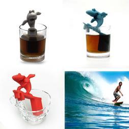 Shark Tea Maker Surfboard Shark Silicone Tea Filter Innovati