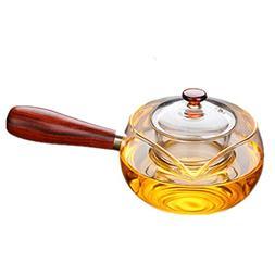 10 Ounce / 300ML Side handle pot Bright Borosilicate Glass T