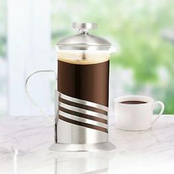 Single Cup French Press - 11 Oz. Coffee & Tea Maker - Wave D