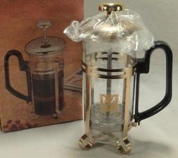 Mosaix Single Serve 1.5 Cup Glass Metal Carafe French Press