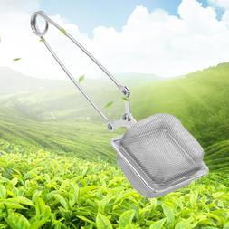 Square Handle Tea Filter Stainless Steel Tea Maker Tea Spoon
