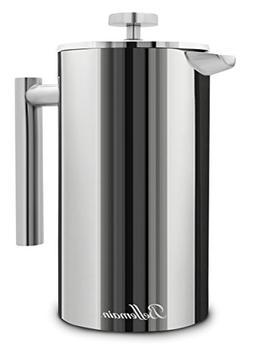 Bellemain Stainless Steel Double Wall French Coffee Press 35