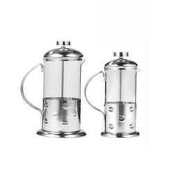 Stainless Steel Glass French Press Coffee Cup Tea Maker Cafe