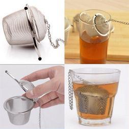 Stainless Steel Mesh Tea Filter Spice Tea Ball Strainer Infu