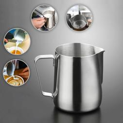 Stainless Steel Milk Coffee Pitcher Scale Latte Espresso Fro