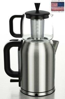 Stainless Steel Persian Tea Maker Electric Kettle Boil-Dry P