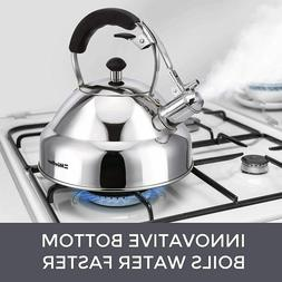 Stove Top Whistling Tea Kettle - Only Culinary Grade Stainle