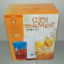 Sunbeam Mr Coffee Iced Tea Maker Brewer 2 Quart Red New