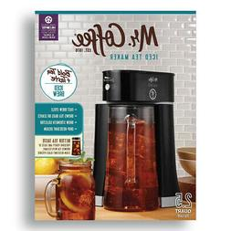 Mr Coffee Tea Cafe Iced Tea Maker Black BVMC-TM33 New