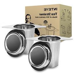 Tea Infuser,Tea Strainer,2 PACK 304 Stainless Steel Water Fi