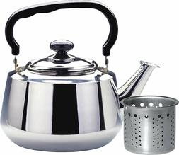 Tea Kettle 3 Liters Stovetop with Strainer Heavy Gauge Stain