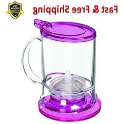Tea Maker Pink 16 OZ Durable Plastic Patented Drain Mechanis