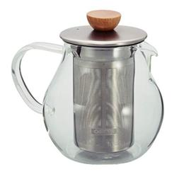 Hario Glass Tea Pitcher with Stainless Steel Filter, 450ml