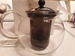 BODUM Teapot Clear Glass Tea Maker Diffuser For Tea Leaf or