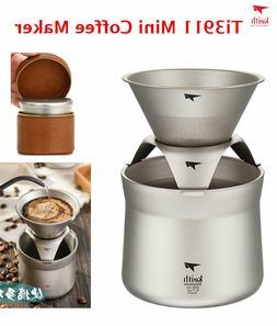 Keith Titanium Ti3911 Ultralight Mini Coffee/Tea Maker Leath