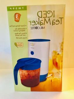 Mr. Coffee TM39P Fresh Iced Tea Maker, 3-Quart, Blue Color N