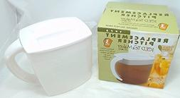 Mr. Coffee TP75 Iced Tea Maker Replacement Pitcher  3-Qt., W