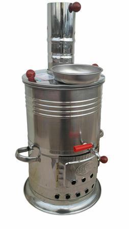 TURKISH 2.5L SAMOVAR WOOD COAL STOVE CAMP WATER HEATER TEA K