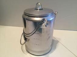 Vintage Coleman Camping Coffee Percolator 9 Cup Aluminum Sto