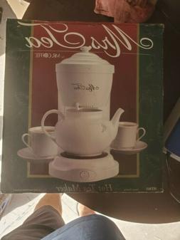 Vintage Mrs. Tea by Mr. Coffee 6 Cup Hot Tea Maker HTM1 Cera