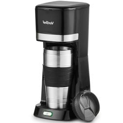 VonShef One Cup Personal Coffee Maker Single Serve Black  14