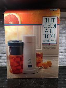 Vtg  Mr Coffee ICED TEA POT MAKER 2 QT Sz MODEL TM1 w/Blue L
