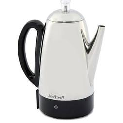 West Bend 12 Cup Stainless Steel Percolator - NEW - Retail -