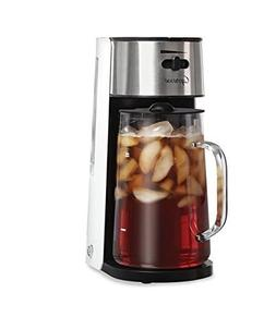White/Stainless Ice Tea Maker